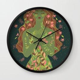 fall nymph Wall Clock