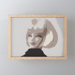 Femme Fatale Portrait Framed Mini Art Print
