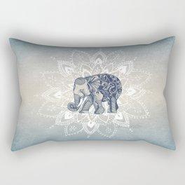 Elephant  Mandala Rectangular Pillow