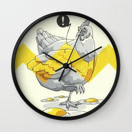 Chicken in the kitchen Wall Clock