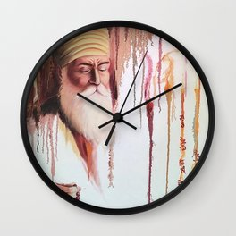 Guru Nanak Watercolour Wall Clock