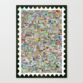 The Soccer Stamp Canvas Print