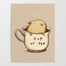 Pup of Tea Poster
