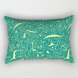 Scattered Critters Pattern Rectangular Pillow