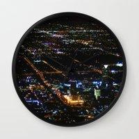 oklahoma Wall Clocks featuring Oklahoma City by Nadege Torrentgeneros