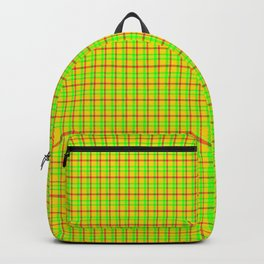 Flamboyant Canary Plaid Backpack