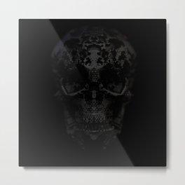 Skulls Black Metal Print