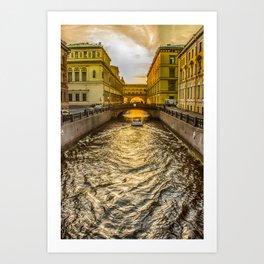Swan Canal in St. Petersburg Art Print