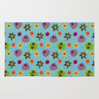 sugar skulls Area & Throw Rugs featuring Sugar Skulls by grrrenadine