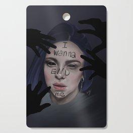 Bury A Friend | Billie Eilish Digital Portrait Dark Cutting Board