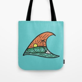 Wave in a Wave - Teal Tote Bag