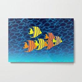 Tropical Fish Digital Art Metal Print