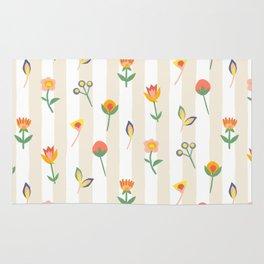 Paper Cut Flowers Rug