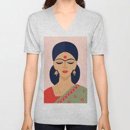 Indian woman Unisex V-Neck