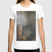 piano T-shirts featuring Piano by Claudia Ma