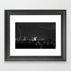 City Lightning Framed Art Print
