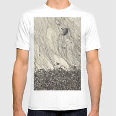 Tidal veins MEDIUM White Mens Fitted Tee