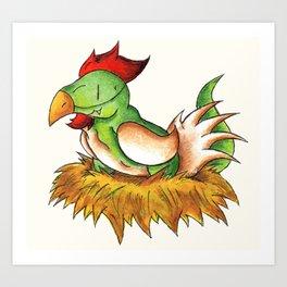 Chicken Rex Art Print