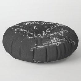 Magical Christmas Floor Pillow