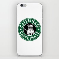 dalek iPhone & iPod Skins featuring Dalek Caffeinate by ThePhantomMoon
