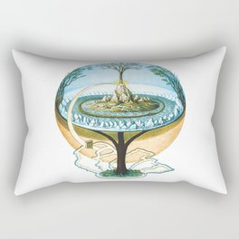 Ancient Norse Cosmology Conception of the Universe Flat Earth Unisex Softstile Flat Earth Shirt Rectangular Pillow