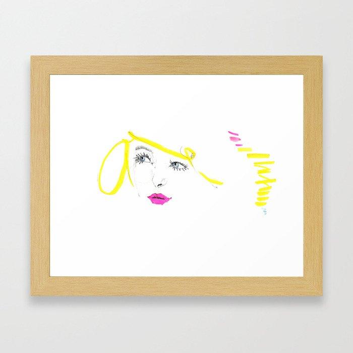 Blonde Blue Framed Art Print