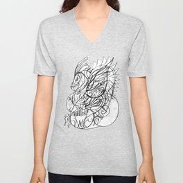 Bird with wings Unisex V-Neck