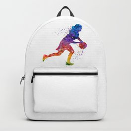 Girl Basketball Point Guard Colorful Watercolor Sports Art Backpack