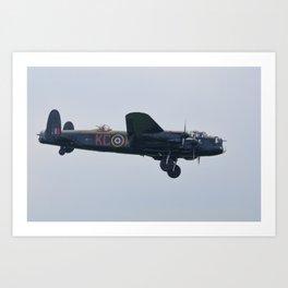 Lancaster on approach Art Print