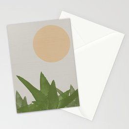 Aloe and moon Stationery Cards