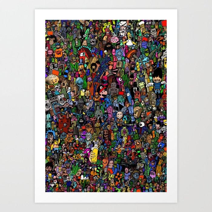 Color doodle Art Print