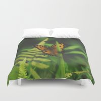 bali Duvet Covers featuring Butterfly, Bali by Dominique Felicity Photography