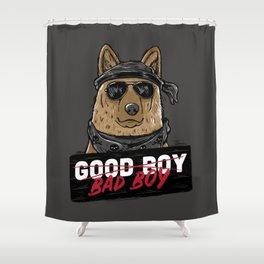 Good Boy Bad Boy Shower Curtain