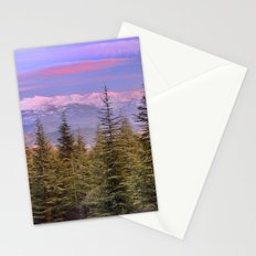 Mountains... pink sunset Stationery Cards