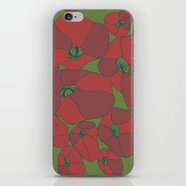 Poppies iPhone Skin