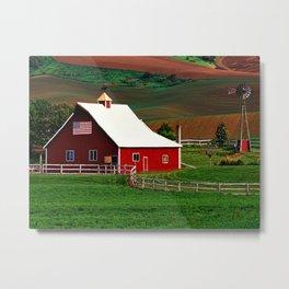American Farm Metal Print