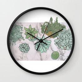 mixed succulents Wall Clock