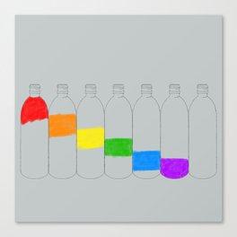 Rainbow Bottles Canvas Print