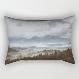 Misty mountains - Landscape and Nature Photography Rectangular Pillow