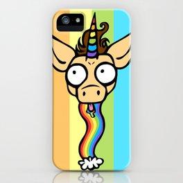Unicorn Rainbow Puke iPhone Case