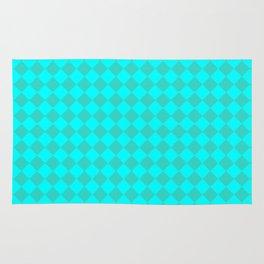 Cyan and Turquoise Diamonds Rug