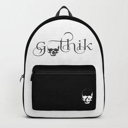 Gothik Skull logo Backpack