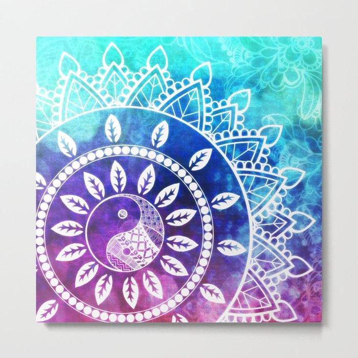 Divine Dream Pink Purple Blue Mandala Metal Print