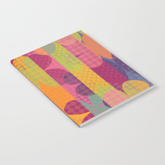 Abstract Colorful Floral Pattern Notebook