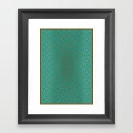 Pattern_Gold Framed Art Print