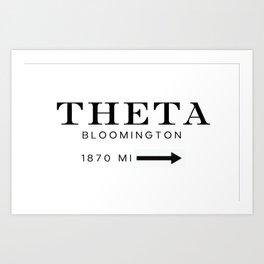 Theta Bloomington 1870 Art Print