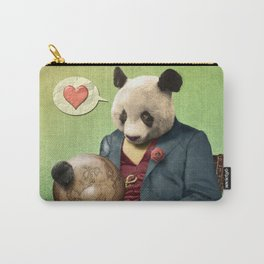 Wise Panda: Love Makes the World Go Around! Carry-All Pouch