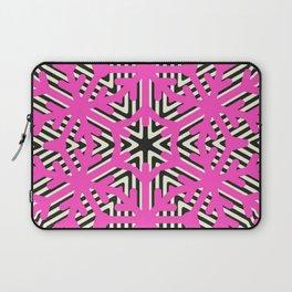 Pink Snow Flakes Laptop Sleeve