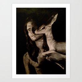 Bin Gubaisha Drawing Art Print