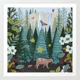 Little Bear Behind Art Print